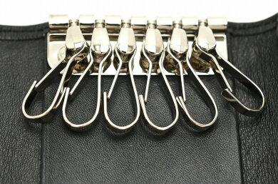 dunhillダンヒルサイドカーキーケース6連キーケースキーリング付レザーブラックシルバーQD5020【中古】【k】【Blumin楽天市場店】