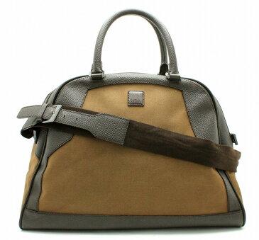【バッグ】dunhill ダンヒル ボストンバッグ 旅行鞄 旅行 キャンバス レザー ダークブラウン ブラウン 【中古】【k】【Blumin 楽天市場店】