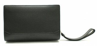 【バッグ】Cartierカルティエカボションクラッチバッグセカンドバッグレザーブラック黒シルバー金具L1000704【中古】【k】【Blumin楽天市場店】