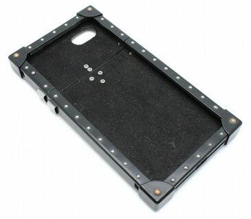 LOUIS VUITTON ルイ ヴィトン モノグラム エクリプス フラグメント アイトランク iphone7 ケース アイフォンケース スマホケース ブラック メタル M62613 【中古】【k】