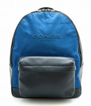 【バッグ】COACH コーチ リュック リュックサック バックパック ショルダーバッグ レザー 黒 ブラック 青 ブルー メンズ F59321 【中古】【k】