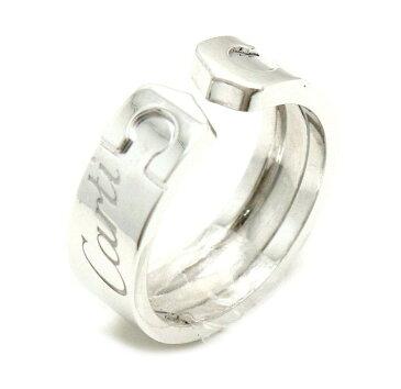 【ジュエリー】【新品仕上げ済】Cartier カルティエ 2C モチーフ リング 指輪 2007年限定 K18WG 750WG ホワイトゴールド C2 10号 #50 B4077550 【中古】【k】