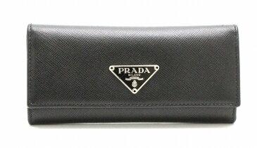 PRADA プラダ 6連キーケース キーケース SAFFIANO METAL 型押しレザー メンズ NERO 黒 ブラック シルバー金具 M223A 【中古】【k】