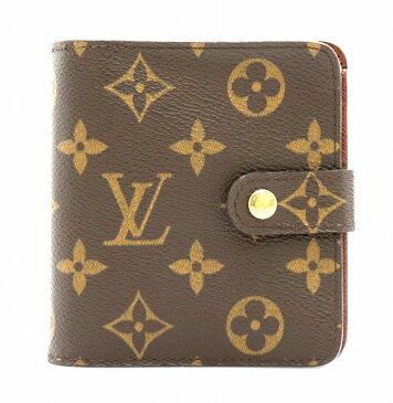 【財布】LOUIS VUITTON ルイ ヴィトン モノグラム コンパクトジップ コの字型 2つ折ファスナー財布 ベタなし M61667 【中古】【k】