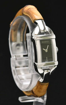 【ウォッチ】GUCCI グッチ バングル シルバー文字盤 バンブー SS レディース QZ クォーツ 腕時計 6800L 【中古】【u】