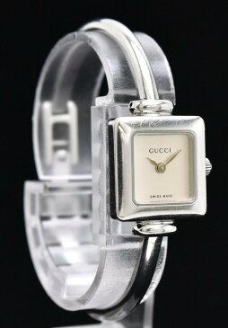 【ウォッチ】GUCCI グッチ バングルウォッチ シルバー文字盤 SS QZ クォーツ レディース 腕時計 1900L 【中古】【s】
