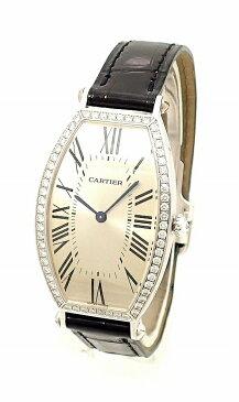 【ウォッチ】Cartier カルティエ トノー LM ダイヤベゼル シルバー文字盤 ダイヤモンド K18WG 750WG ホワイトゴールド 手巻き 腕時計 WE400251 【中古】【u】【Blumin/森田質店】【質屋出店】
