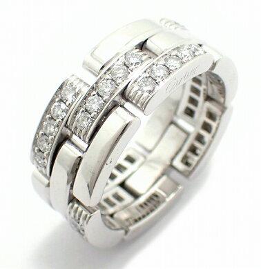 【ジュエリー】【新品仕上げ済】Cartierカルティエマイヨンパンテールリング指輪K18WG750WGホワイトゴールドダイヤ16号#56【】【k】【Blumin店】