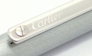 Cartierカルティエサントスボールペンサントスドゥカルティエシルバーツイストメカニズム回転式ST150191【】【k】【Blumin店】