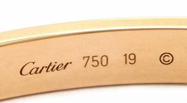 【ジュエリー】【新品仕上げ済】Cartier カルティエ ラブブレス LOVE #19 K18PG ピンクゴールド ハーフダイヤ 新型 ブレスレット バングル ダイヤモンド ドライバー付き B6036019 【中古】【u】