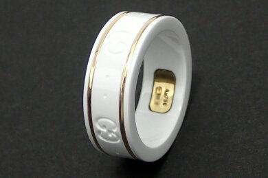 【ジュエリー】GUCCIグッチアイコンリングGGリング指輪9号#9K18750ゴールドセラミック白ホワイト【】【k】【Blumin店】