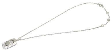【ジュエリー】【新品仕上げ済】BVLGARIブルガリパレンテシネックレスK18WG750WGホワイトゴールドダイヤモンドパヴェ【】【k】【Blumin店】
