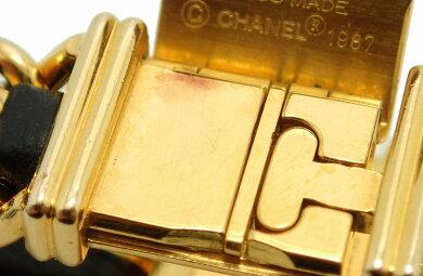【ウォッチ】CHANELシャネルプルミエールXLサイズブラック文字盤ゴールドメッキGPレディースQZクォーツ腕時計ゴールドH0001【中古】【k】【Blumin/森田質店】【質屋出店】