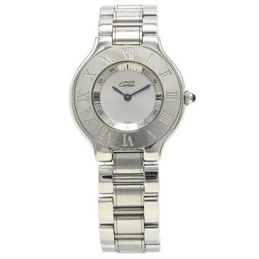【ウォッチ】Cartier カルティエ マスト21 ヴァンティアンLM SS シルバー文字盤 ボーイズ クォーツ 腕時計 W10110T2 【中古】