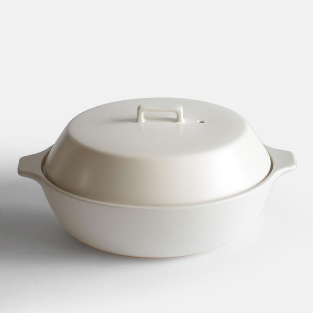 KINTO / KAKOMI IH土鍋2.5L(WH) 【キントー/囲み土鍋/調理鍋/ホワイト】[112580