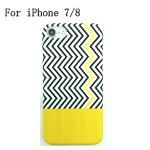 iPhone7/8スマホケース携帯ケースプラスチックTPUストライプイエローアイフォンケースブラック黒シンプルかっこいいきれい個性的