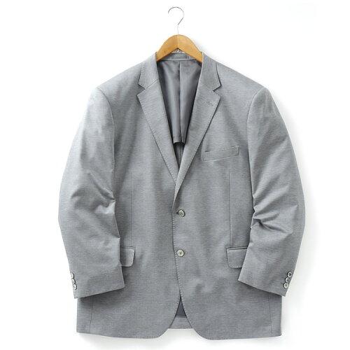 [2L・3L・4L・5L]チーフ付ニットジャケット グレー 121318...
