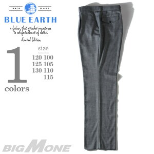 大きいサイズ メンズ [100・105・110・115・120・125・130]BLUE EARTH(ブルーアース) ストレッチワンタックスラックス th63505b