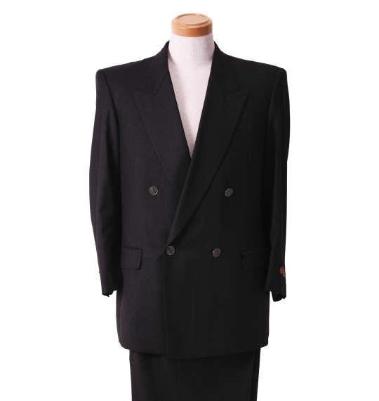 【大きいサイズ】【メンズ】 ダブル4ツ釦1ツ掛スーツ チャコールグレー 1122-5356-1 [2L・3L・5L]:大きいサイズの店ビッグエムワン