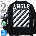 【タダ割】【大きいサイズ】【メンズ】DANIEL DODD オーガニックコットンプリントロングTシャツ(ANGLE) azt-180407