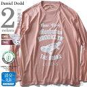 【大きいサイズ】【メンズ】DANIEL DODD オーガニックコットンプリントロングTシャツ(THE BRONX) azt-180423