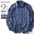 【送料無料】【大きいサイズ】【メンズ】DANIEL DODD 長袖パッチワークチェックシャツ azsh-150416