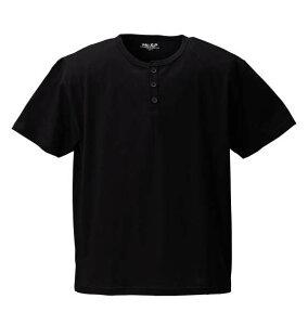 大きいサイズ メンズ Mc.S.P 半袖ヘンリーTシャツ ブラック 1158-6591-2 [3L・4L・5L・6L・8L・10L]