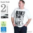 【タダ割】【大きいサイズ】【メンズ】DANIEL DODD オーガニックプリント半袖Tシャツ(BIKE AND LIFE)【春夏新作】azt-170232