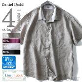 【大きいサイズ】【メンズ】DANIEL DODD リネン100% 半袖ワイドカラーシャツ【春夏新作】azsh-170223