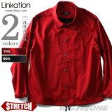 【大きいサイズ】【メンズ】LINKATION ストレッチコーチジャケット la-b180401