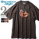 【大きいサイズ】【メンズ】HAWAIIAN STYLE(ハワイアンスタイル/LOCAL MOTION ローカルモーション) プリント半袖Tシャツ【USA直輸入】mts-5109