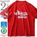 大きいサイズ メンズ DANIEL DODD 半袖 Tシャツ オーガニック プリント 半袖Tシャツ Difficulty azt-190221