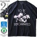 【タダ割】大きいサイズ メンズ DANIEL DODD 半袖 Tシャツ オーガニック プリント 半袖Tシャツ TO BE REINCARNATED azt-190234