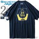 大きいサイズ メンズ HAWAIIAN STYLE ハワイアンスタイル LOCAL MOTION ローカルモーション 半袖 プリント Tシャツ USA直輸入 mts17204