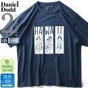 大きいサイズ メンズ DANIEL DODD オーガニック プリント 半袖 Tシャツ HAWAII azt-200225