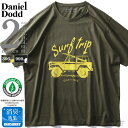 大きいサイズ メンズ DANIEL DODD オーガニック プリント 半袖 Tシャツ Surf Trip azt-200217