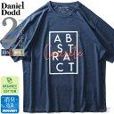 大きいサイズ メンズ DANIEL DODD オーガニック プリント 半袖 Tシャツ ABSTRACT 春夏新作 azt-200245