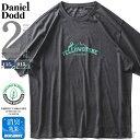 大きいサイズ メンズ DANIEL DODD オーガニック プリント 半袖 Tシャツ YELLOWSTONE azt-200252