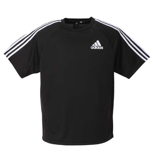 大きいサイズメンズadidas半袖Tシャツブラック1278-0331-23XO4XO5XO6XO7XO8XO