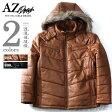 【大きいサイズ】【メンズ】AZ DEUX PU中綿フード付ブルゾン【秋冬新作】azb-1337