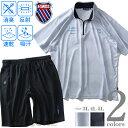 大きいサイズ メンズ K SWISS 吸汗速乾 ハニカム ドライ ハーフジップ 半袖 Tシャツ + ショートパンツ 上下セット 春夏新作 k2957k