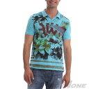 【送料無料】【大きいサイズ】【メンズ】[XL・XXL・3XL]DESIGUAL(デシグアル) デザイン半袖ポロシャツ(Julio) 41l1703
