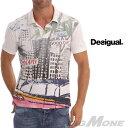 【送料無料】【大きいサイズ】【メンズ】[XL・XXL・3XL]DESIGUAL(デシグアル) デザイン半袖ポロシャツ(Miami City) 42l1734