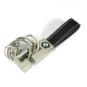 【BMW純正】US限定 BMW レザーキーリング 3リング BMW キーホルダー BMW キーリング 【あす楽】【楽ギフ_包装】