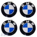 BMW 純正 エンブレム ホィールキャップバッジ 65mm 4枚セット