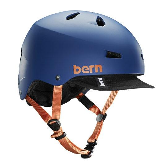 bern - MACON VISOR ALL SEASON JAPANFIT マットブルー / バーン マコン BMX スケート ヘルメット