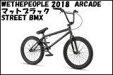 """【送料無料】2018 We The People - ARCADE 20.5"""" マットブラック / WTP ウィーザピープル アーケード BMX ストリート パーク ダート"""