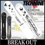 15-16TECHNINE/テックナインWOMENSFEATHERオールマウンテンレディース予約商品スノーボード板