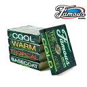 ボードショップ BREAKOUTで買える「FamousWax / フェイマスワックス ザ グリンラベル サーフワックス サーフィン サーフボード メール便 290円」の画像です。価格は204円になります。