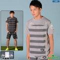ダウポンチ/dalponte_ボーダーライトスウェットTシャツ〜フットサルウェア
